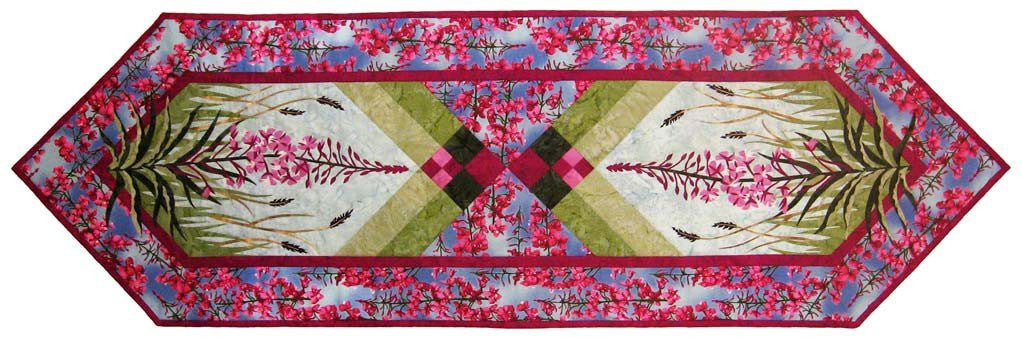 Wildfire Designs Alaska Field of Fire Laser Pre-Cut Pre-Fused Table Runner Applique Quilt Kit with Pattern - Beaverhead Treasures LLC