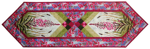 Wildfire Designs Alaska Field of Fire Laser Pre-Cut Pre-Fused Table Runner Applique Quilt Kit with Pattern