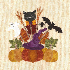 P3 Designs Baltimore Halloween BOM Applique Quilt Pattern Set - Beaverhead Treasures LLC