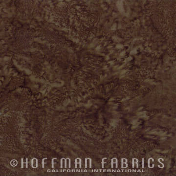 Hoffman Fabrics Watercolors Brown Sugar 1895-514-Brown-Sugar Bali Batik Fabric