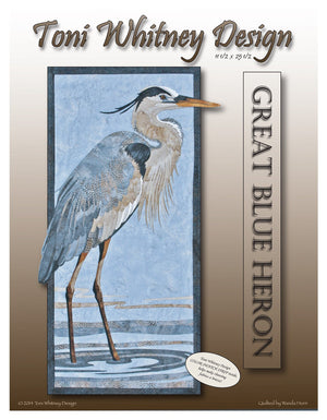 Toni Whitney Design Great Blue Heron Applique Quilt Kit with Pattern Front Cover