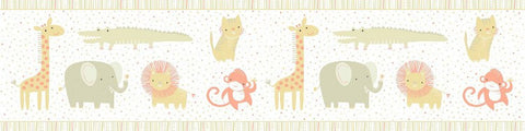 Clothworks Khaki Safari Sweet Organic Cotton Fabric