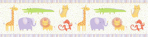 Clothworks Light Purple Safari Sweet Organic Cotton Fabric