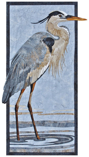 Toni Whitney Design Great Blue Heron Applique Quilt Kit with Pattern and Fabric Kit - Beaverhead Treasures LLC