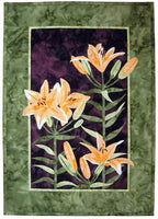 Wildfire Designs Alaska Lily Trinity Tiger Lily Applique Quilt Pattern - Beaverhead Treasures LLC