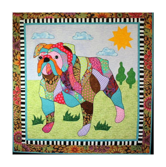 BJ Designs & Patterns Max the Bulldog Dog Applique Quilt Pattern - Beaverhead Treasures LLC