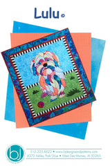 BJ Designs & Patterns Lulu the Dog Applique Quilt Pattern Front Cover