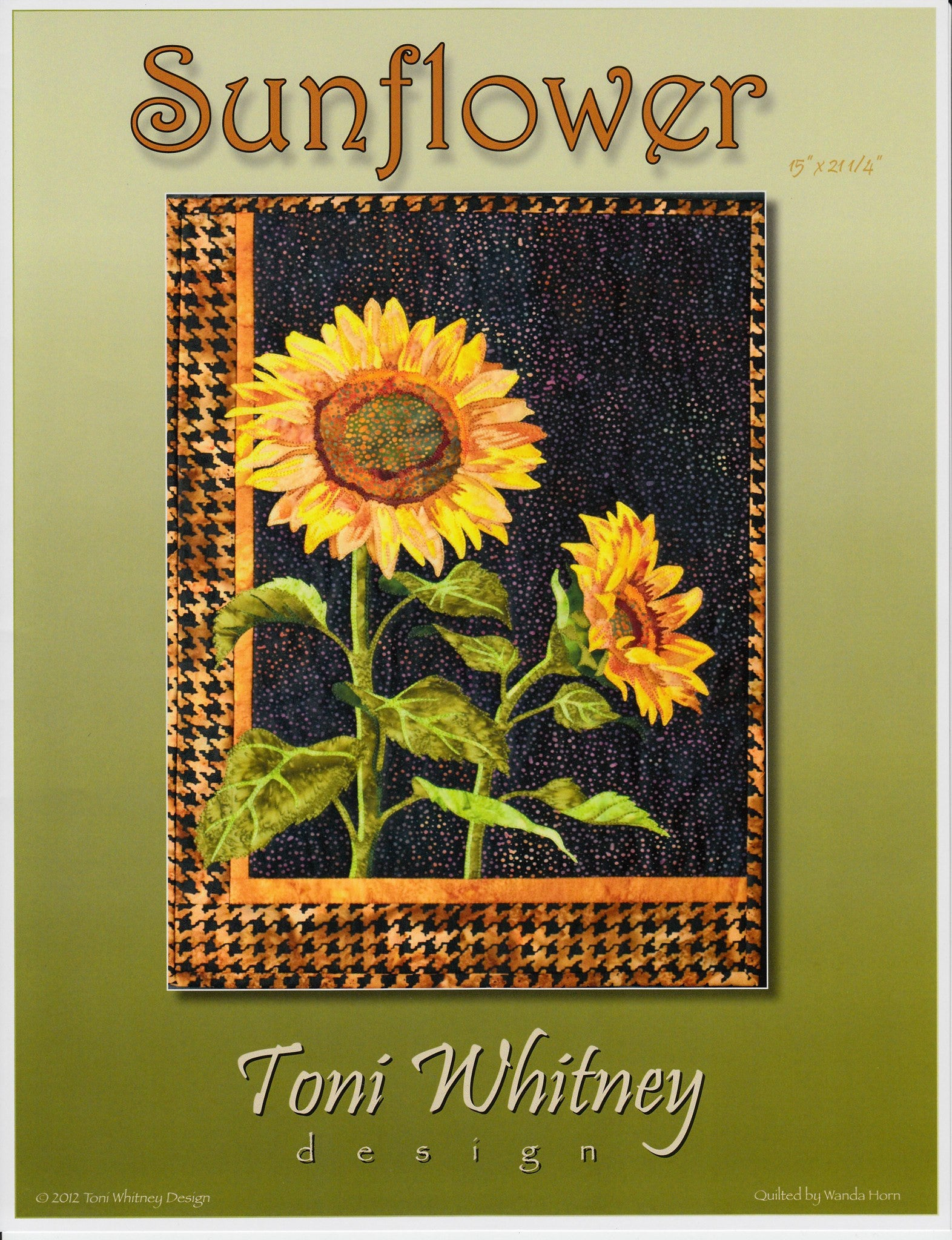 Toni Whitney Design Sunflower Applique Quilt Pattern