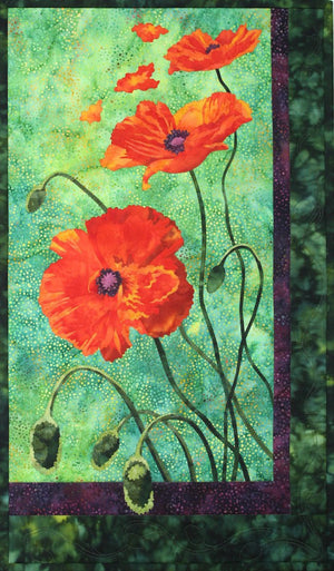 Toni Whitney Design Poppies Applique Quilt Kit