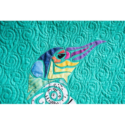 Madi Hastings Picasso Penguin Laser Pre-Cut Pre-Fused Applique Quilt Kit