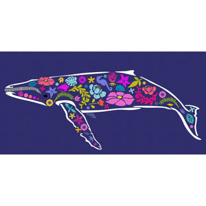 Madi Hastings Beachcomber Whale Laser Pre-Cut Pre-Fused Applique Quilt Kit