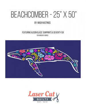 Madi Hastings Beachcomber Whale Laser Pre-Cut Pre-Fused Applique Quilt Kit Front Cover