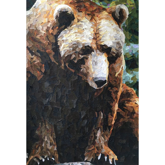 Collage Quilter Grizzly Bear Wall Hanging Collage Quilt Pattern