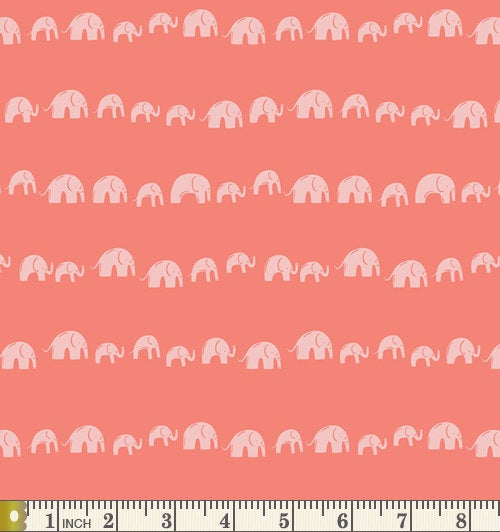 Art Gallery Fabrics Selva Elephants Echo Earthy Cotton Fabric SLV-14515
