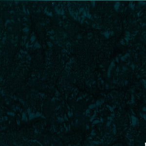 Hoffman Fabrics Watercolors Deep Emerald Black Green Batik Cotton Fabric 1895-702-Deep-Emerald