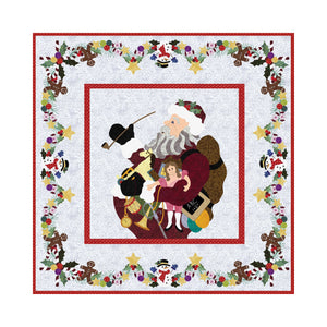 P3 Designs Ole Time Santa Christmas Holiday Applique Quilt Pattern