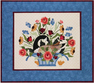 P3 Designs Nesting Goose with Flowers Applique Quilt Pattern