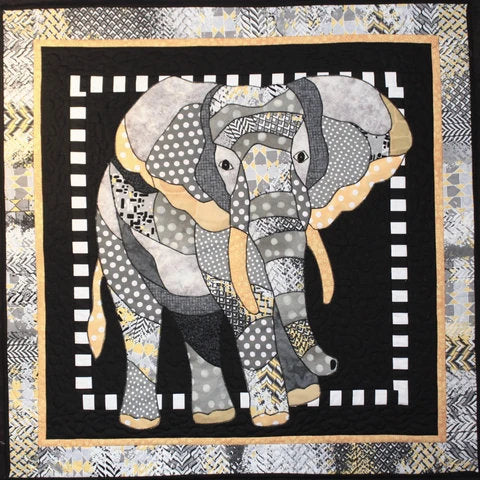 BJ Designs & Patterns Estelle Elephant Applique Quilt Pattern