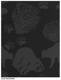 Hoffman Fabrics Raven Black Alaskan Bears Bali Hand Dyed Batik Fabric by the Yard J2432-494-Raven
