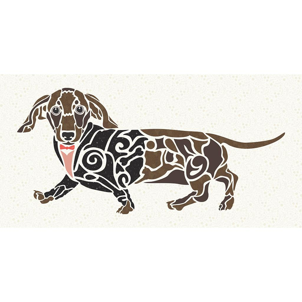 Madi Hastings Doxie Love Dachshund Dog Laser Pre-Cut Pre-Fused Applique Quilt Kit