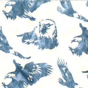 Hoffman Fabrics Breeze Blue Eagle Batik Fabric N2909-492-Breeze