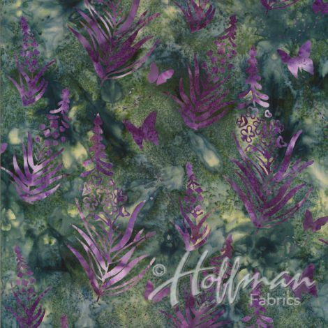 Hoffman Fabrics May Purple Fireweed Bali Batik Fabric P2984-590-May