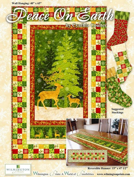 Peace on Earth by Cynthia Coulter for Wilmington Prints FREE Pattern Download