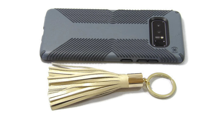 Leather Tassel Keychain Scale