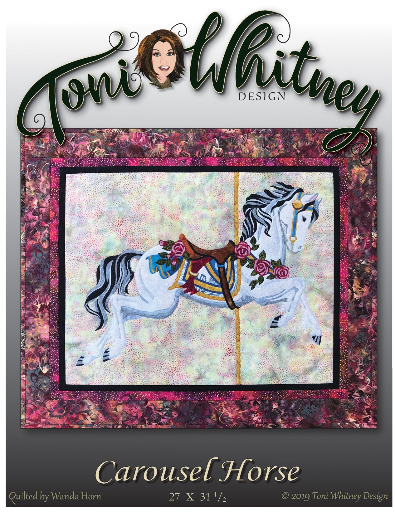 Toni Whitney Design Carousel Horse Applique Quilt Pattern Front Cover