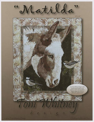 Toni Whitney Design Matilda Donkey Applique Quilt Pattern Front Cover