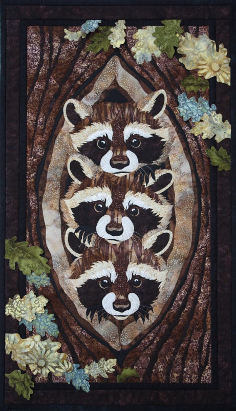Toni Whitney Design Who What Where Raccoon Applique Quilt Pattern
