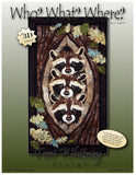 Toni Whitney Design Who What Where Raccoon Applique Quilt Pattern Front