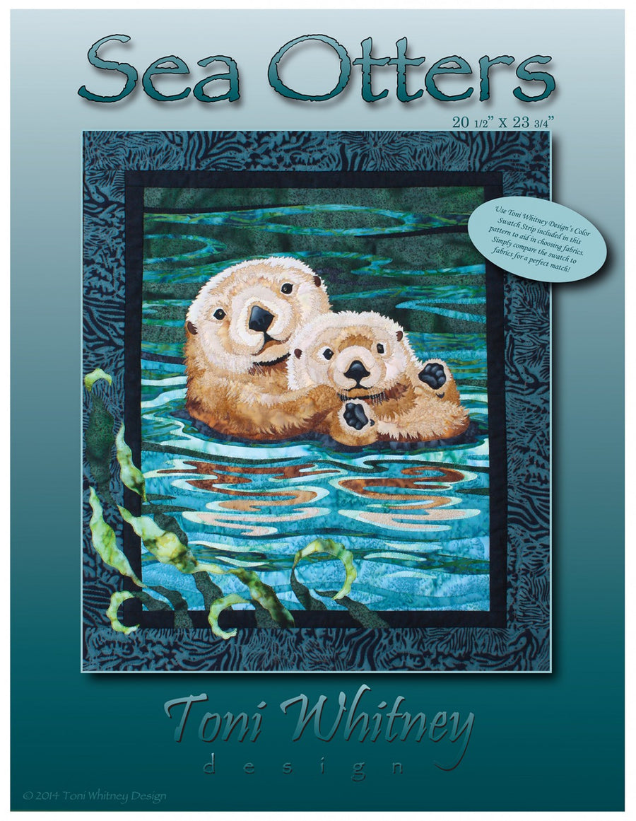 Toni Whitney Design Sea Otter Applique Quilt Pattern