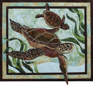Toni Whitney Design Sea Turtles Applique Quilt Kit with Pattern