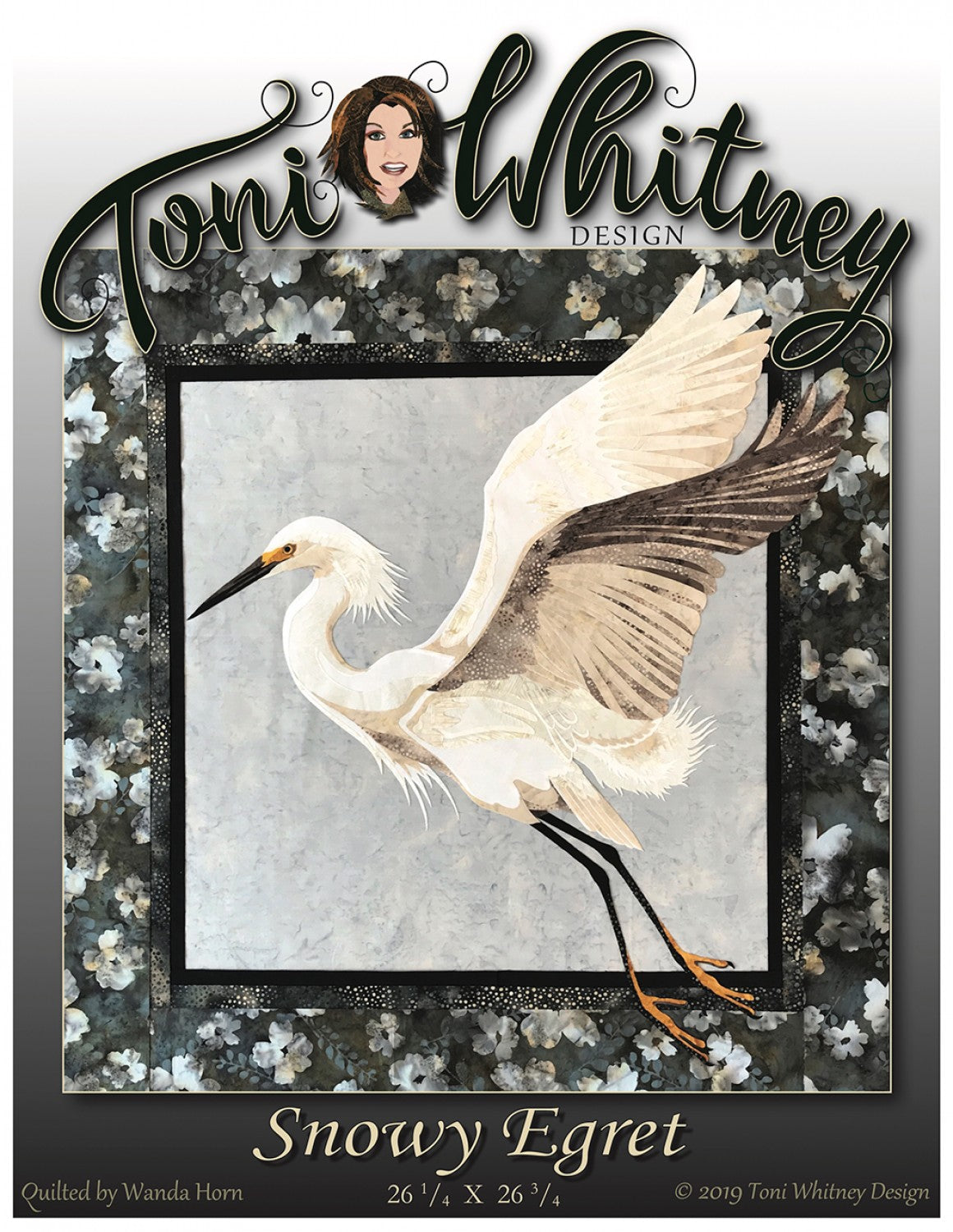 Toni Whitney Design Snowy Egret Bird Applique Quilt Pattern Front Cover