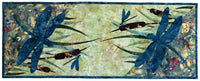 Wildfire Designs Alaska At The Pond Dragonfly Table Runner Applique Quilt Pattern
