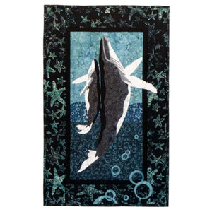 Wildfire Designs Alaska Dancing with My Baby Whale Applique Quilt Pattern