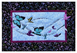 Wildfire Designs Alaska Into the Wild Flying By Butterfly Wall Hanging Applique Quilt Pattern