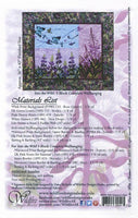 Wildfire Designs Alaska Into the Wild Summer's End Fireweed Flower Wall Hanging Applique Quilt Pattern Back Cover