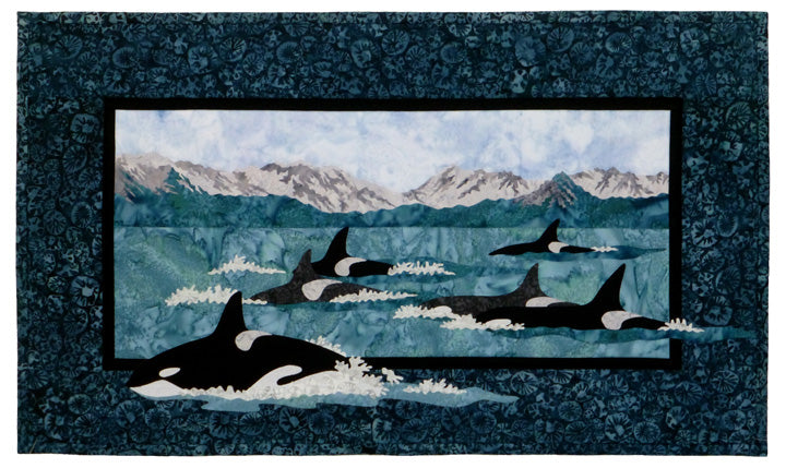 Wildfire Designs Alaska Leader of the Pod Orca Whale Applique Quilt Pattern