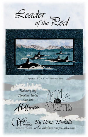 Wildfire Designs Alaska Leader of the Pod Orca Whale Applique Quilt Pattern Front Cover