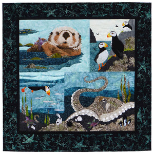 Wildfire Designs Alaska Maritime's Most Wanted Combined Four Pattern Applique Quilt