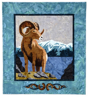 Wildfire Designs Alaska Mountain Hike Big Horn Sheep Applique Quilt Pattern