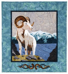 Wildfire Designs Alaska Mountain Hike Dall Sheep Applique Quilt Pattern