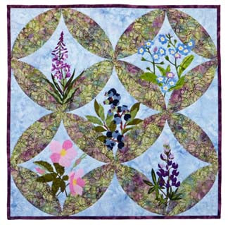 Wildfire Designs Alaska Northern Flora Five-Block Wallhanging Quilt Kit