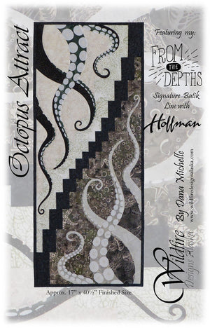Wildfire Designs Alaska Octopus Attract Applique Quilt Pattern Front Cover