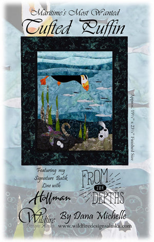 Wildfire Designs Alaska Maritime's Most Wanted Tufted Puffin Applique Quilt Pattern Front Cover