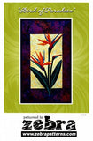 Zebra Patterns Bird of Paradise Tropical Flower Applique Quilt Pattern Front Cover