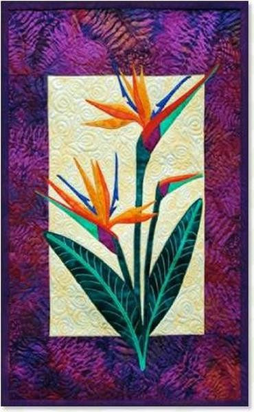 Zebra Patterns Bird of Paradise Tropical Flower Applique Quilt Pattern