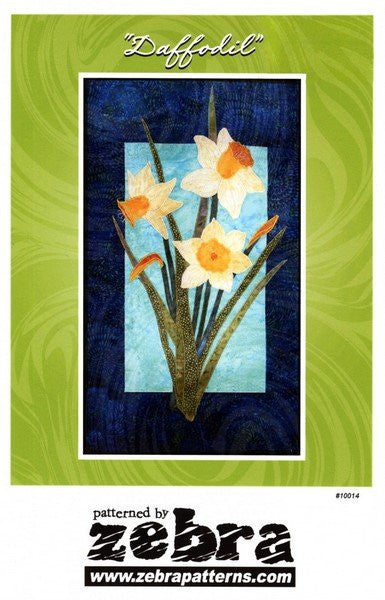 Zebra Patterns Yellow Daffodil Spring Flower Applique Quilt Pattern